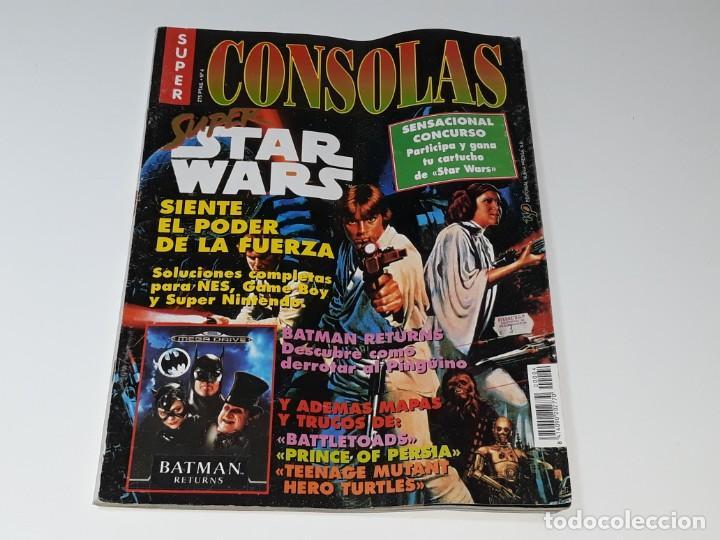 SUPER CONSOLAS : ANTIGUA REVISTA DE VIDEOJUEGOS NES GAME BOY SUPER NINTENDO Nº 4 AÑOS 90 STAR WARS (Juguetes - Videojuegos y Consolas - Nintendo - SuperNintendo)