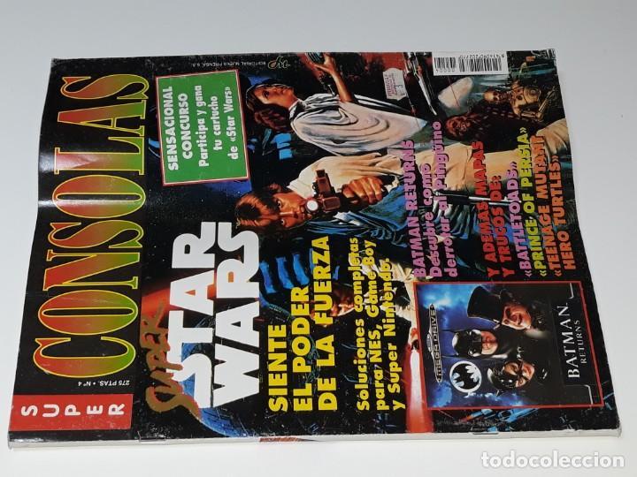 Videojuegos y Consolas: SUPER CONSOLAS : ANTIGUA REVISTA DE VIDEOJUEGOS NES GAME BOY SUPER NINTENDO Nº 4 AÑOS 90 STAR WARS - Foto 4 - 154745782
