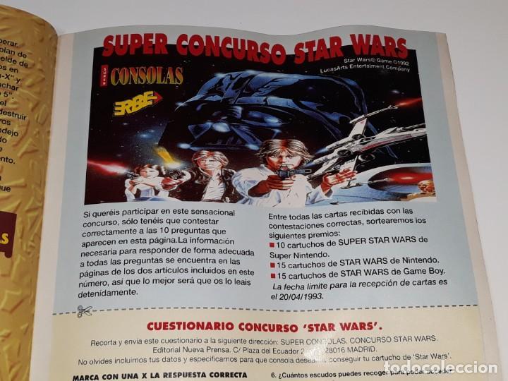 Videojuegos y Consolas: SUPER CONSOLAS : ANTIGUA REVISTA DE VIDEOJUEGOS NES GAME BOY SUPER NINTENDO Nº 4 AÑOS 90 STAR WARS - Foto 16 - 154745782