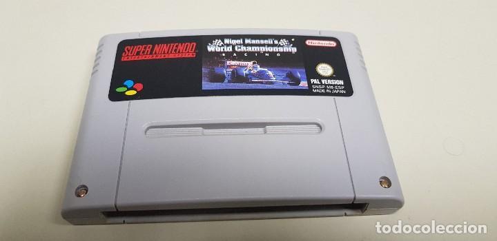 J-NIGEL MANSELLS WORLD CHAMPIONSHIP SUPER NINTENDO PAL VERSION ESPAÑOLA (Juguetes - Videojuegos y Consolas - Nintendo - SuperNintendo)