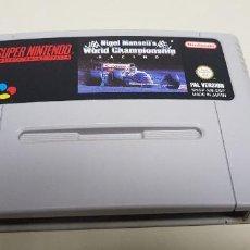 Videojuegos y Consolas: J-NIGEL MANSELLS WORLD CHAMPIONSHIP SUPER NINTENDO PAL VERSION ESPAÑOLA . Lote 155048530