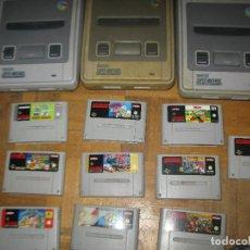 Videojuegos y Consolas: 10 JUEGOS SUPER NINTENDO SUPERNINTENDO Y TRES CONSOLAS SIN CABLES. Lote 156820510