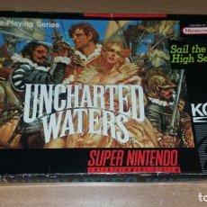 Videojuegos y Consolas: UNCHARTED WATERS SUPER NINTENDO KOEI RPG. Lote 157094890