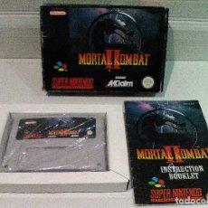 Videojuegos y Consolas: MORTAL KOMBAT 2 SUPER NINTENDO SNES COMPLETO. Lote 158441158