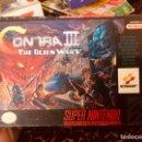 Videojuegos y Consolas: CAJA SNES CONTRA III THE ALÍEN WARS. Lote 160486685