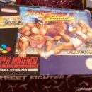 Videojuegos y Consolas: CAJA SNES STREET FIGHTER II. Lote 160489257