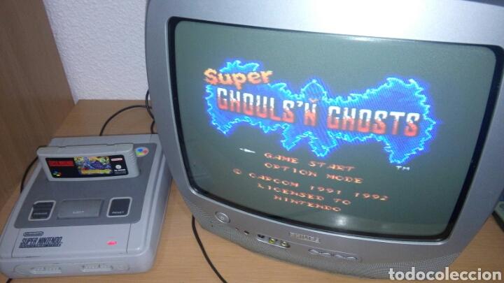 Videojuegos y Consolas: SUPER GHOULS N GHOSTS SNES NINTENDO CARTUCHO - Foto 3 - 160697333