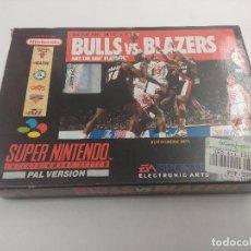 Videojuegos y Consolas: JUEGO SUPER NINTENDO/BULLS VS BLAZERS/COMPLETO.. Lote 160858034