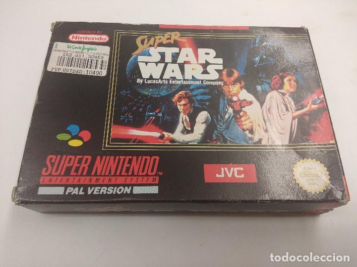 JUEGO SUPER NINTENDO/SUPER STAR WARS/COMPLETO. (Juguetes - Videojuegos y Consolas - Nintendo - SuperNintendo)