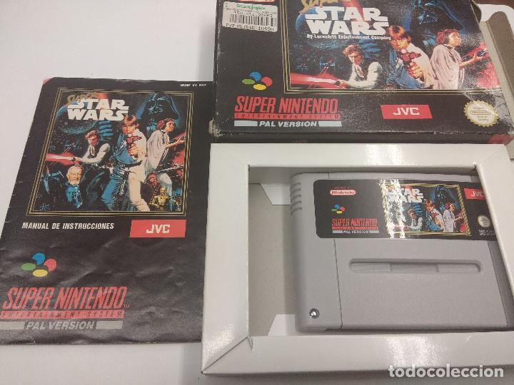 Videojuegos y Consolas: JUEGO SUPER NINTENDO/SUPER STAR WARS/COMPLETO. - Foto 2 - 160858222