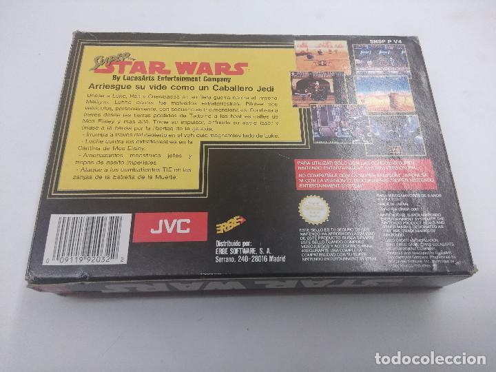 Videojuegos y Consolas: JUEGO SUPER NINTENDO/SUPER STAR WARS/COMPLETO. - Foto 3 - 160858222