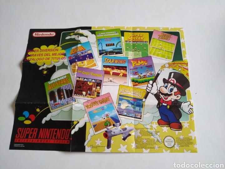 POSTER CATALOGO SNES SUPER NINTENDO (Juguetes - Videojuegos y Consolas - Nintendo - SuperNintendo)