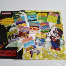 Videojuegos y Consolas: POSTER CATALOGO SNES SUPER NINTENDO. Lote 160937954