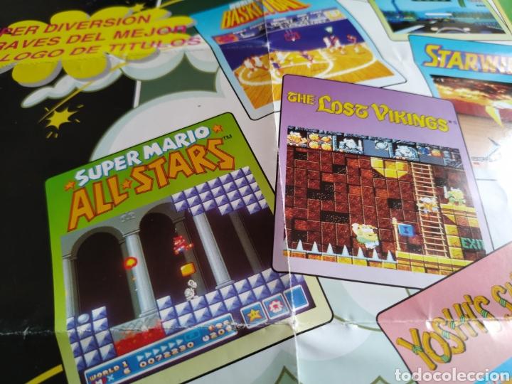 Videojuegos y Consolas: Poster catalogo Snes Super Nintendo - Foto 3 - 160937954
