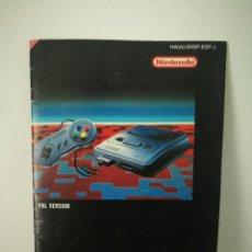 Videojuegos y Consolas: MANUAL INSTRUCCIONES CONSOLA SUPER NINTENDO . Lote 163127578