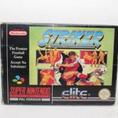 Videojuegos y Consolas: STRIKER SUPER NINTENDO SNES. Lote 167036020
