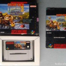 Videojuegos y Consolas: SUPER NINTENDO SNES DONKEY KONG COUNTRY 3 DIXIE KONG COMPLETO CIB BOXED PAL R9127. Lote 167160880