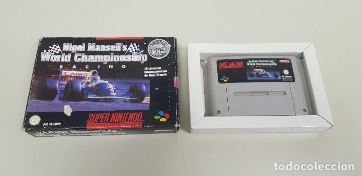 619- NIGEL MANSELLS WORLD CHAMPIONSHIP RACING SUPERNINTENDO VERSION ESPAÑOLA (Juguetes - Videojuegos y Consolas - Nintendo - SuperNintendo)