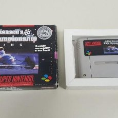Videojuegos y Consolas: 619- NIGEL MANSELLS WORLD CHAMPIONSHIP RACING SUPERNINTENDO VERSION ESPAÑOLA. Lote 167704712