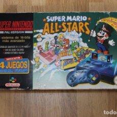 Videojuegos y Consolas: CONSOLA SUPER NINTENDO SNES SUPER MARIO ALL STARS PACK EN CAJA. Lote 167723477