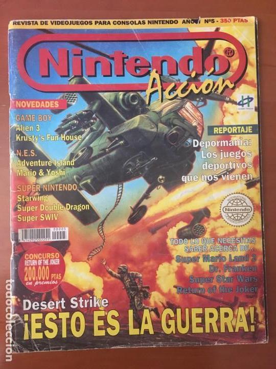NINTENDO ACCIÓN Nº5 (Juguetes - Videojuegos y Consolas - Nintendo - SuperNintendo)