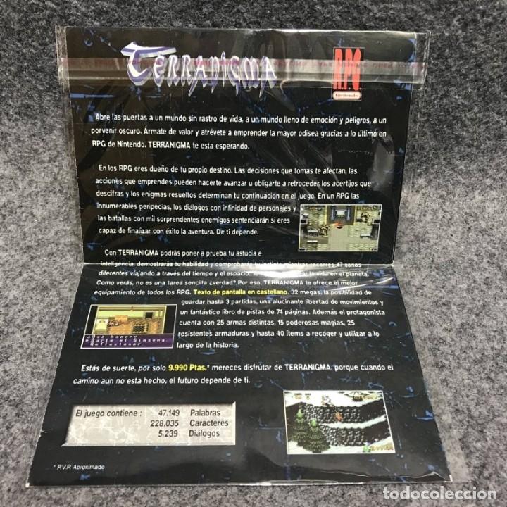 Videojuegos y Consolas: TERRANIGMA FOLLETO CLUB NINTENDO SUPER NINTENDO SNES - Foto 3 - 170234833