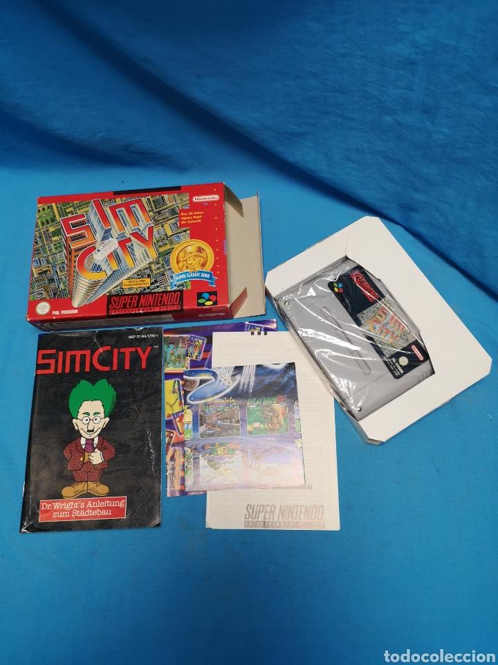 Videojuegos y Consolas: Juego Sim city para super Nintendo versión pal completo, super classic serie - Foto 2 - 171396520