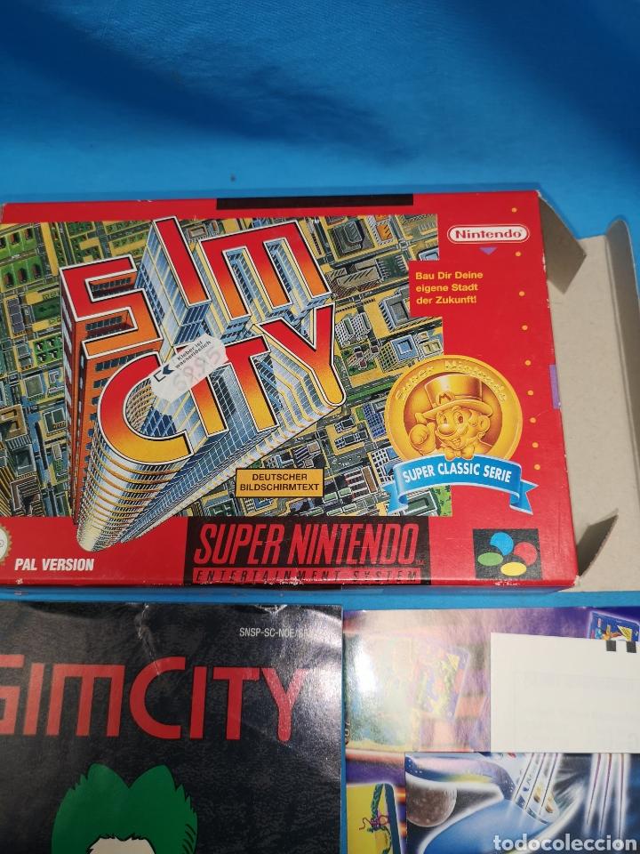 Videojuegos y Consolas: Juego Sim city para super Nintendo versión pal completo, super classic serie - Foto 3 - 171396520