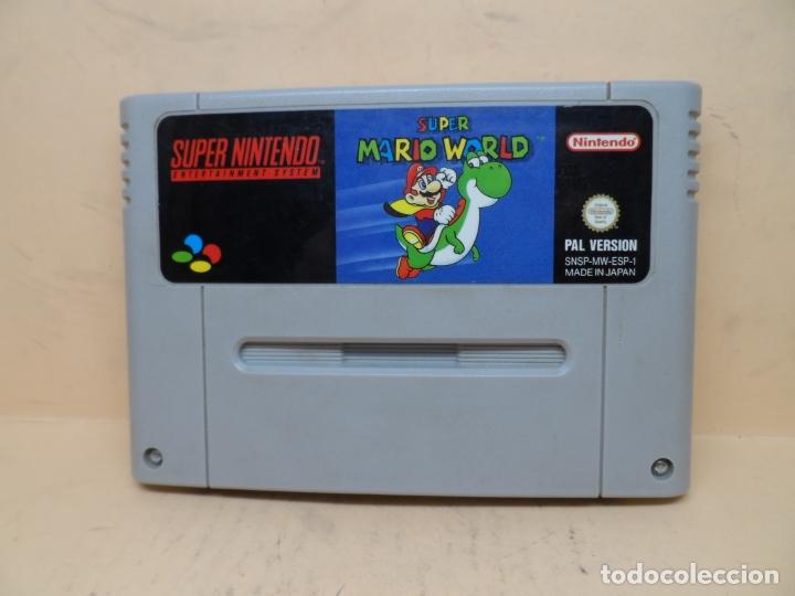 NINTENDO SNES SUPER MARIO WORLD PAL (Juguetes - Videojuegos y Consolas - Nintendo - SuperNintendo)