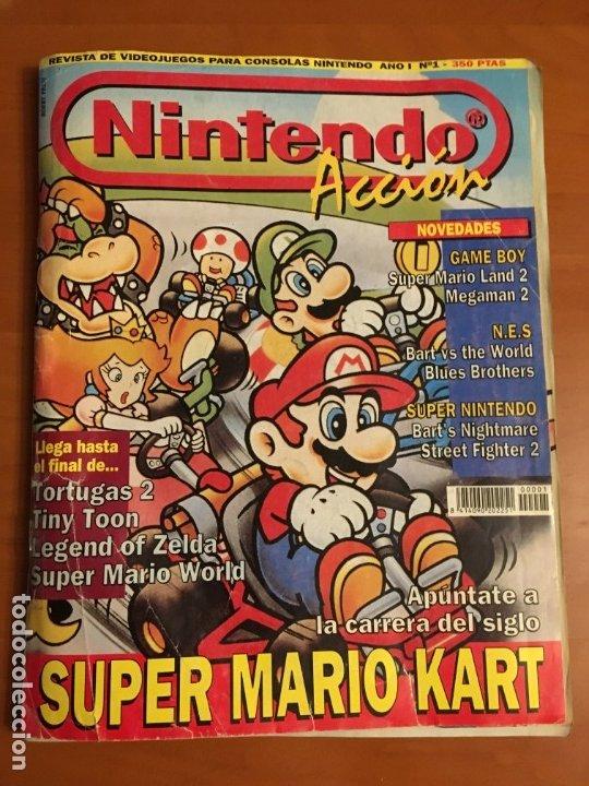 NINTENDO ACCIÓN Nº 1 (Juguetes - Videojuegos y Consolas - Nintendo - SuperNintendo)