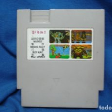 Videojuegos y Consolas: CARTUCHO CON 4 JUEGOS CLON DE NINTENDO NES. Lote 173204309
