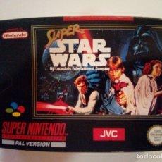 Videojuegos y Consolas: CAJA DE JUEGO SNES-SUPER STAR WAR-PAL. Lote 173206578