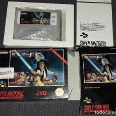 Videojuegos y Consolas: SUPER STAR WARS RETURN OF THE JEDI SUPERNINTENDO JVC EL RETORNO DEL JEDI ARCADIA SUPER NINTENDO SNES. Lote 174021610