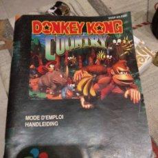 Videojuegos y Consolas: DONKEY KONG COUNTRY ,MANUALES EN FRANCES. Lote 174343565
