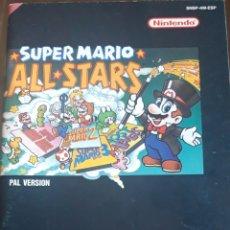 Videojuegos y Consolas: SUPER NINTENDO MANUAL DE INSTRUCCIONES CATÁLOGO SÚPER MARIO ALL STARS. Lote 174386365