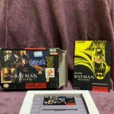 Videojuegos y Consolas: BATMAN RETURNS SNES NTSC COMPLETO. Lote 174456955
