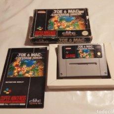 Videojuegos y Consolas: JOE & MAC CAVEMAN NINJA SNES. Lote 174469830
