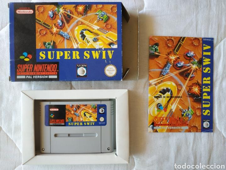 SUPER SWIV SUPER NINTENDO SNES (Juguetes - Videojuegos y Consolas - Nintendo - SuperNintendo)