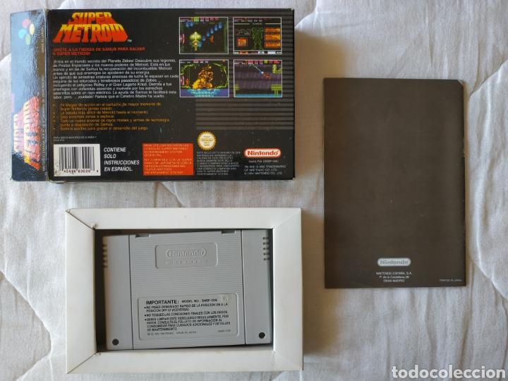 Videojuegos y Consolas: Super Metroid SUPER NINTENDO SNES - Foto 2 - 175595153