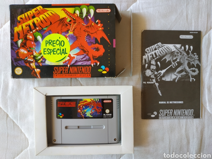 SUPER METROID SUPER NINTENDO SNES (Juguetes - Videojuegos y Consolas - Nintendo - SuperNintendo)