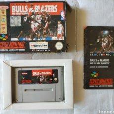 Videojuegos y Consolas: BULLS VS BLAZERS COMPLETO SUPER NINTENDO SNES. Lote 175595667