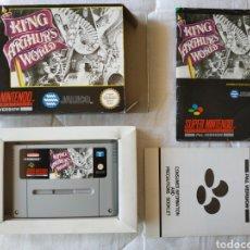 Videojuegos y Consolas: KING ARTHUR'S WORLD COMPLETO SUPER NINTENDO SNES. Lote 175596339