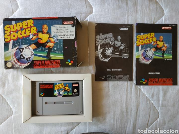 SUPER SOCCER SUPER NINTENDO SNES (Juguetes - Videojuegos y Consolas - Nintendo - SuperNintendo)
