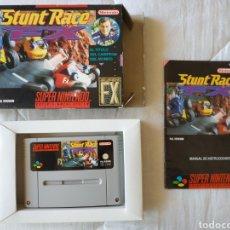 Videojuegos y Consolas: STUNT RACE FX COMPLETO SUPER NINTENDO SNES. Lote 175596407