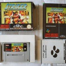 Videojuegos y Consolas: STRIKER COMPLETO SUPER NINTENDO SNES. Lote 175596454