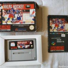 Videojuegos y Consolas: NHLPA HOCKEY COMPLETO SUPER NINTENDO SNES. Lote 175596500