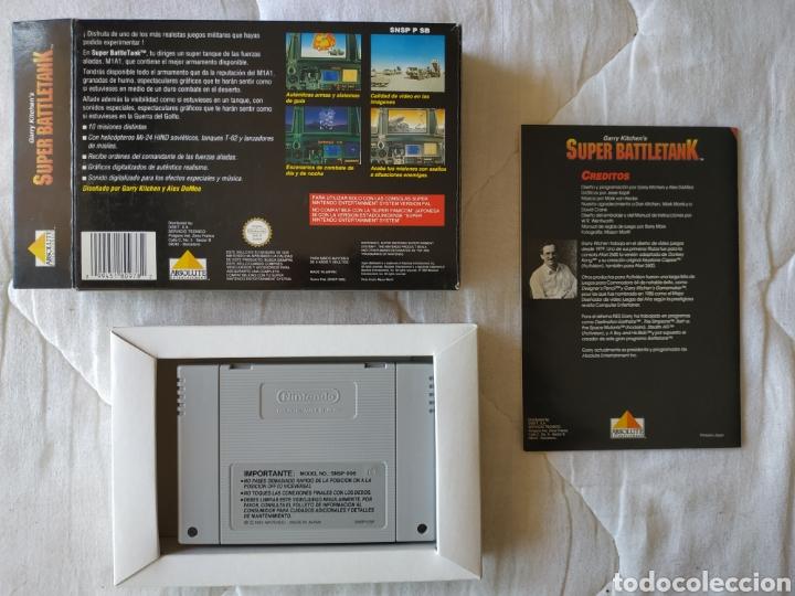 Videojuegos y Consolas: Super Battletank SUPER NINTENDO SNES - Foto 2 - 175597032