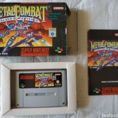 Videojuegos y Consolas: METAL COMBAT COMPLETO SUPER NINTENDO SNES. Lote 175597198
