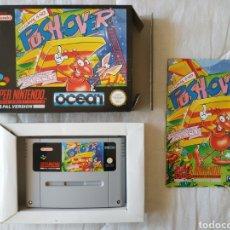 Videojuegos y Consolas: PUSH OVER COMPLETO SUPER NINTENDO SNES. Lote 175597452