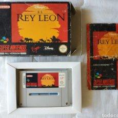 Videojuegos y Consolas: EL REY LEON COMPLETO SUPER NINTENDO SNES. Lote 175597849